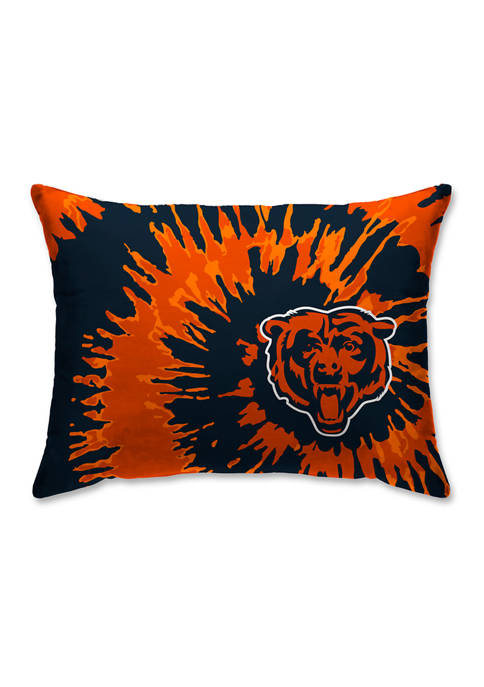 NFL Chicago Bears Tie Dye Microplush Bed Pillow