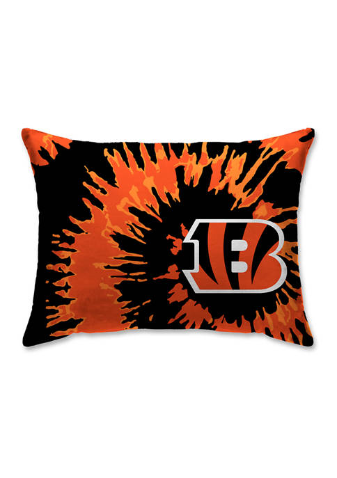 NFL Cincinnati Bengals Tie Dye Microplush Bed Pillow
