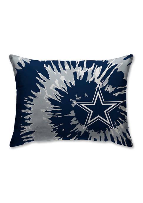 NFL Dallas Cowboys Tie Dye Microplush Bed Pillow