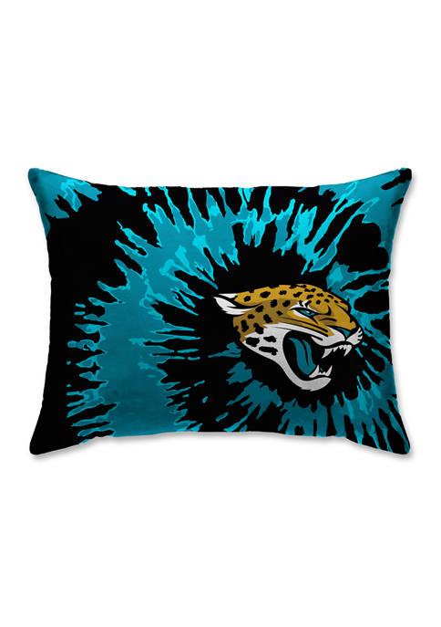 NFL Jacksonville Jaguars Tie Dye Microplush Bed Pillow