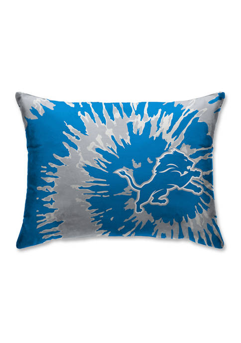 NFL Detroit Lions Tie Dye Microplush Bed Pillow