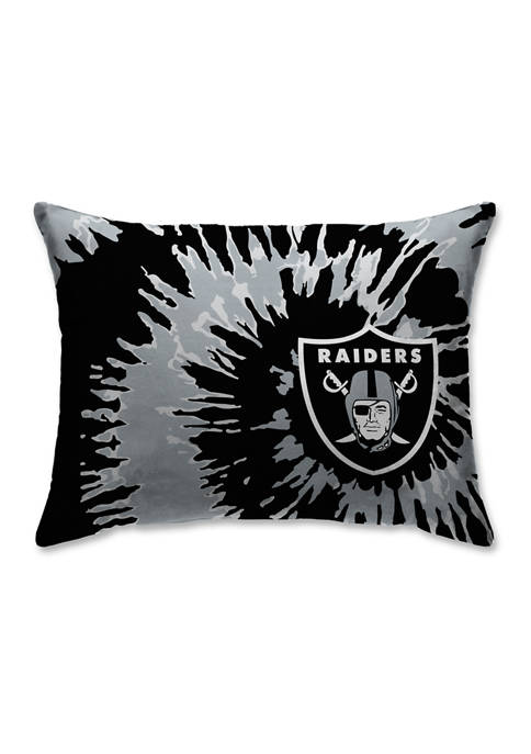 NFL Oakland Raiders Tie Dye Microplush Bed Pillow