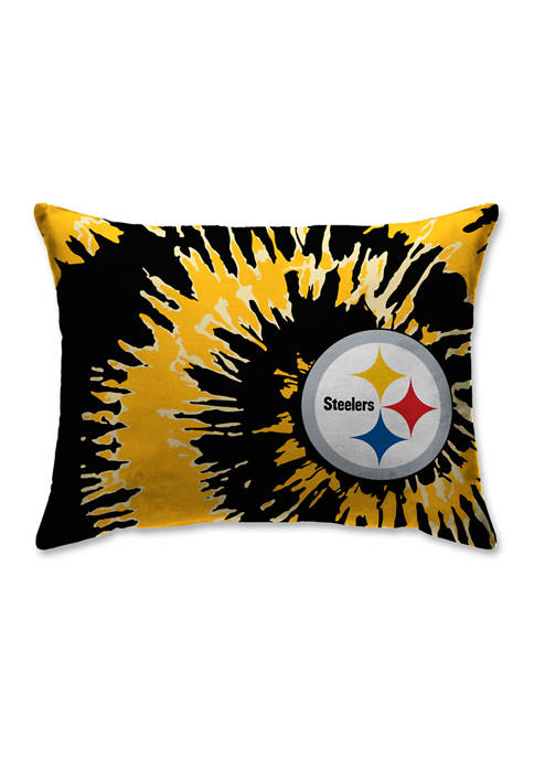 NFL Pittsburgh Steelers Tie Dye Microplush Bed Pillow