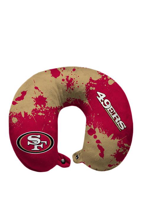 NFL San Francisco 49ers Splatter Print Travel Pillow