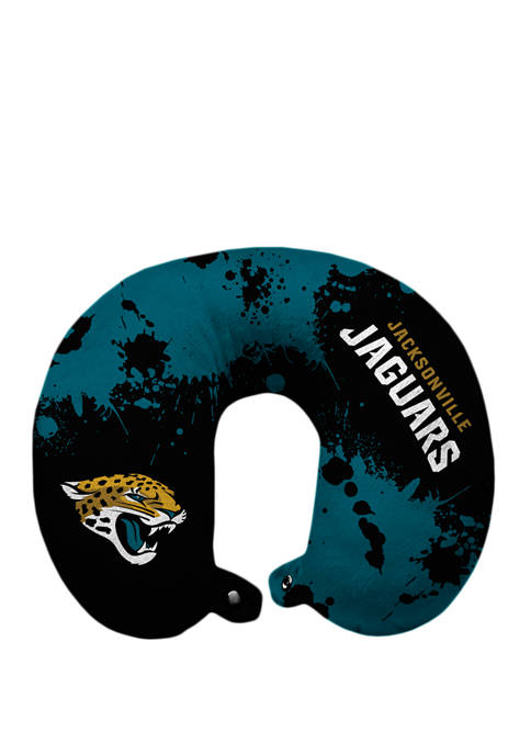 NFL Jacksonville Jaguars Splatter Print Travel Pillow