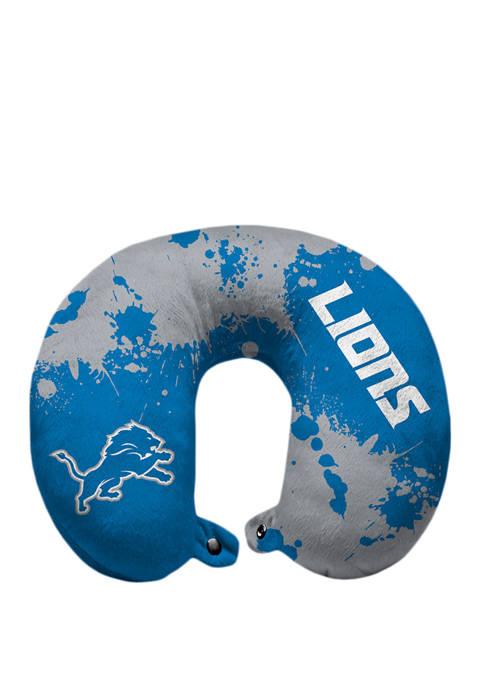 NFL Detroit Lions Splatter Print Travel Pillow