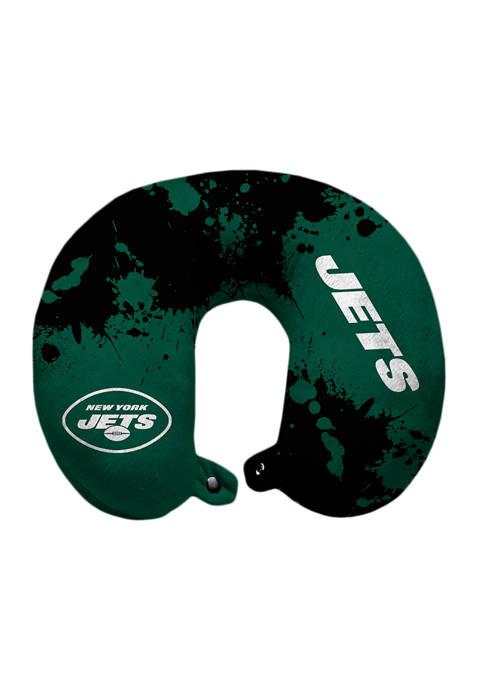 NFL New York Jets Splatter Print Travel Pillow