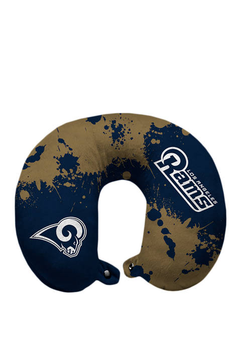 NFL Los Angeles Rams Splatter Print Travel Pillow
