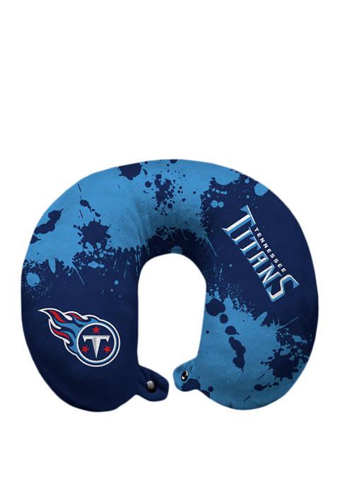 NFL Tennessee Titans Splatter Print Travel Pillow
