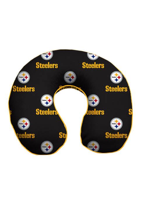 NFL Pittsburgh Steelers Repeat Memory Foam U Neck Travel Pillow
