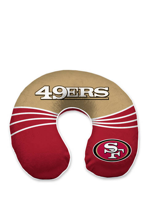 NFL San Francisco 49ers Wave Memory Foam U-Neck Travel Pillow