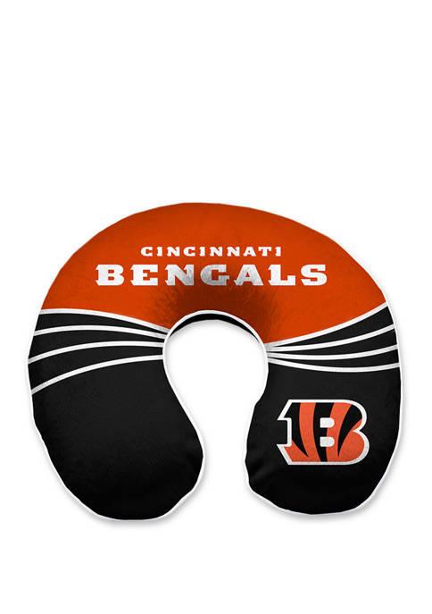 NFL Cincinnati Bengals Wave Memory Foam U Neck Travel Pillow