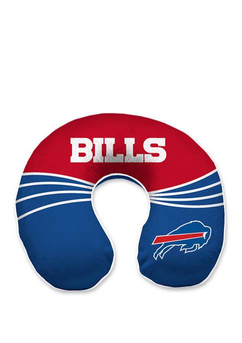NFL  Buffalo Bills Wave Memory Foam U Neck Travel Pillow