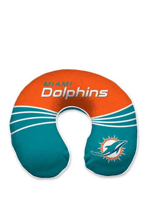 NFL Miami Dolphins Wave Memory Foam U Neck Travel Pillow