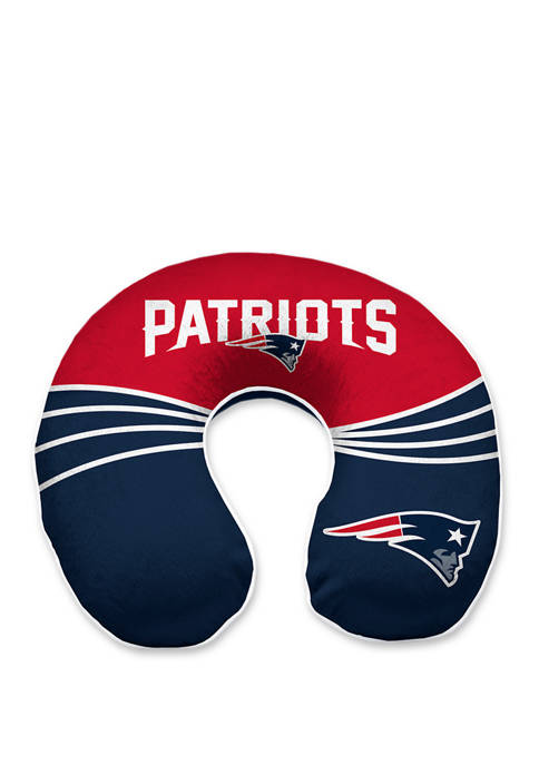 NFL New England Patriots Wave Memory Foam U Neck Travel Pillow