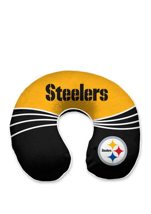 NFL Pittsburgh Steelers Wave Memory Foam U Neck Travel Pillow