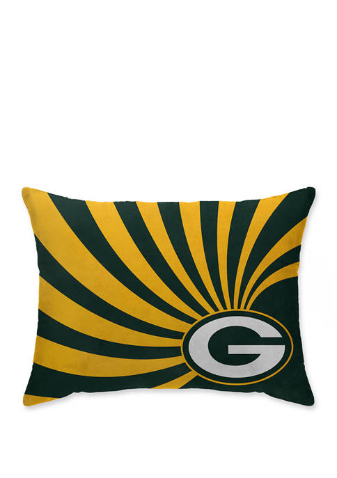 NFL Green Bay Packers Wave Microplush 20 in x 26 in Bed Pillow