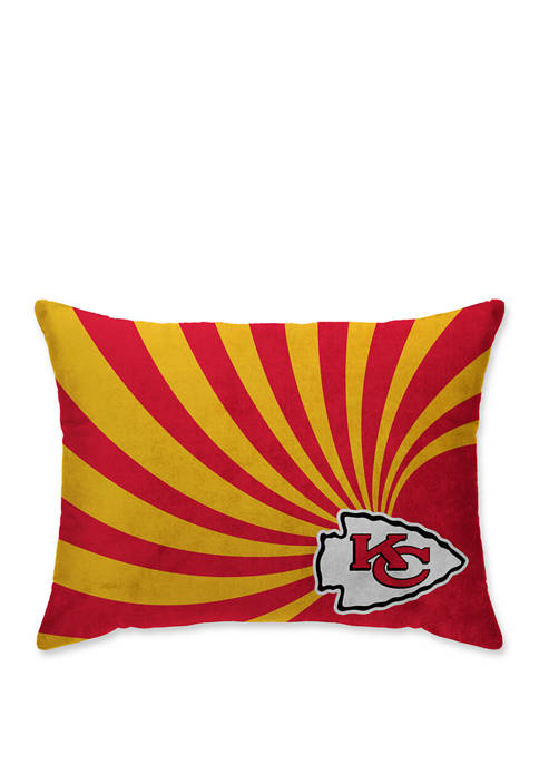 NFL Kansas City Chiefs Wave Microplush 20 in x 26 in Bed Pillow