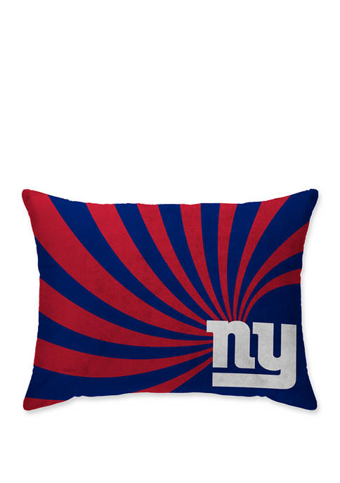 NFL New York Giants Wave Microplush 20 in x 26 in Bed Pillow