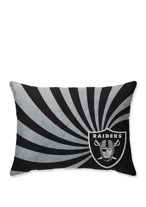 NFL Oakland Raiders Wave Microplush 20 in x 26 in  Bed Pillow