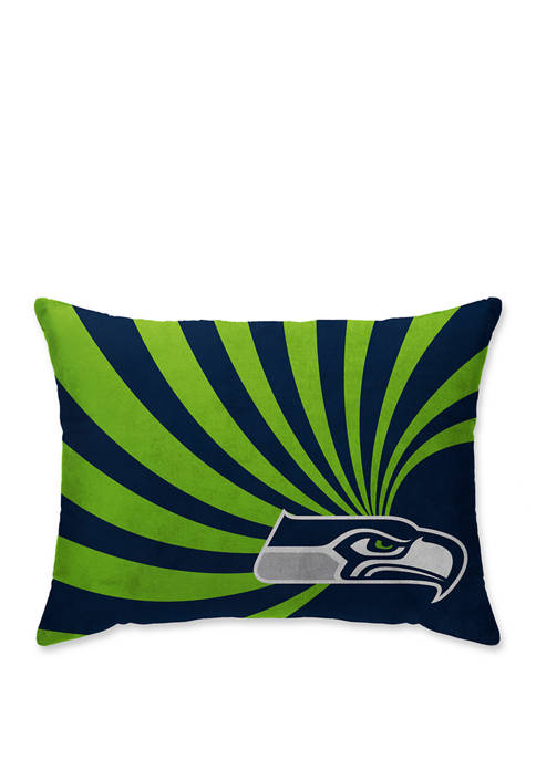 NFL Seattle Seahawks Wave Microplush 20 in x 26 in Bed Pillow