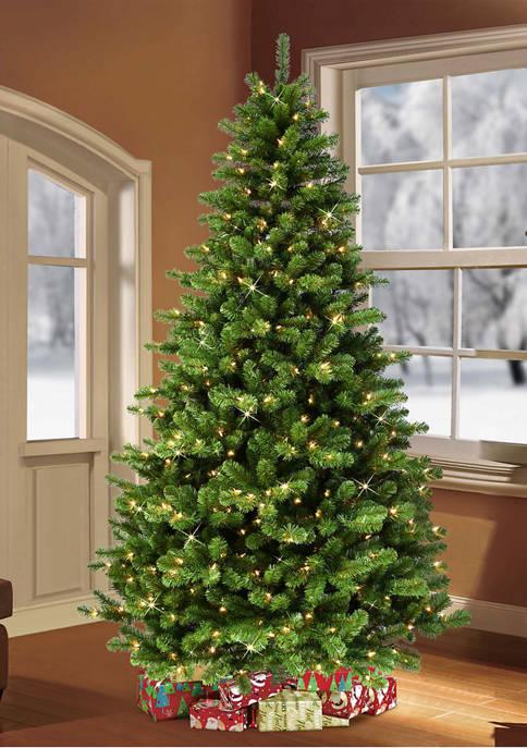 Puleo International Pre-Lit Vancouver Spruce Christmas Tree