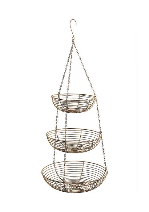 3 Tier Metal Hanging Basket