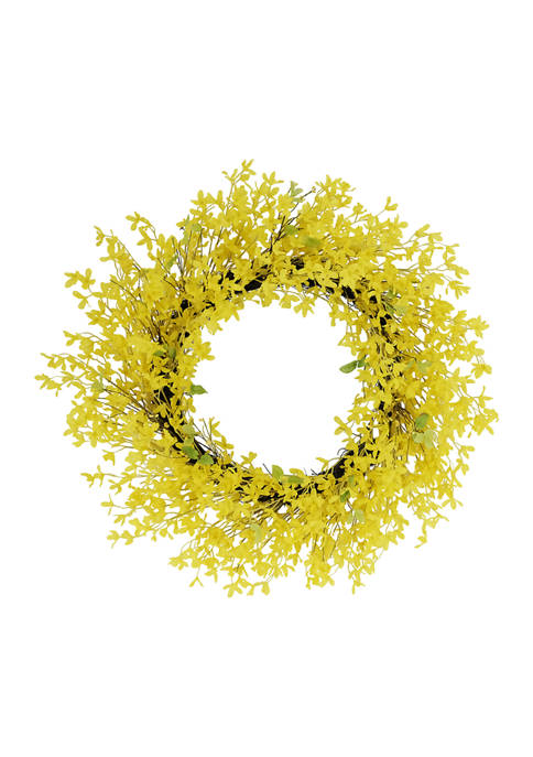 30 Inch Artificial Winter Jasmine Floral Spring Wreath