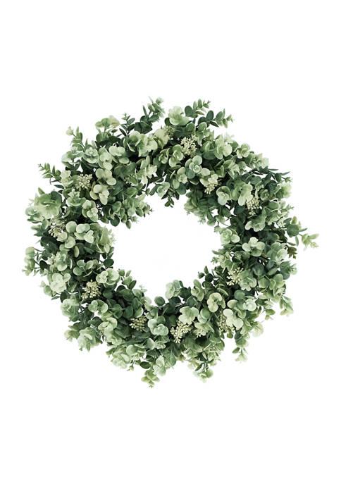 24 Inch Artificial Eucalyptus Floral Spring Wreath
