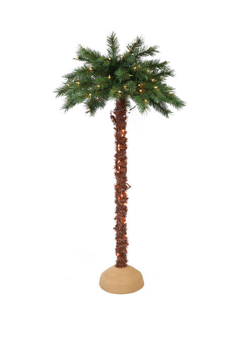 Premium 6 Foot Pre Lit Artificial Palm Tree with 150 UL Listed Lights