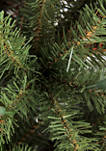 4.5 Foot Pre Lit  Franklin Fir Artificial Christmas Tree with 250 Multi-Colored UL-Listed Lights