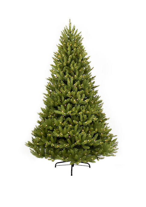 6.5 Foot  Pre Lit Franklin Fir Artificial Christmas Tree 500 UL-Listed Clear Lights