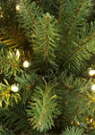 6.5 Foot Pre Lit Franklin Fir Pencil Artificial Christmas Tree 250 UL Listed Clear Lights