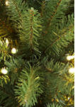 7.5 Foot Pre Lit  Franklin Fir Pencil Tree Artificial Christmas Tree with 350 Clear UL Listed Lights