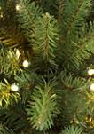 9 Foot Pre Lit Franklin Fir Pencil Artificial Christmas Tree 550 UL Listed Clear Lights