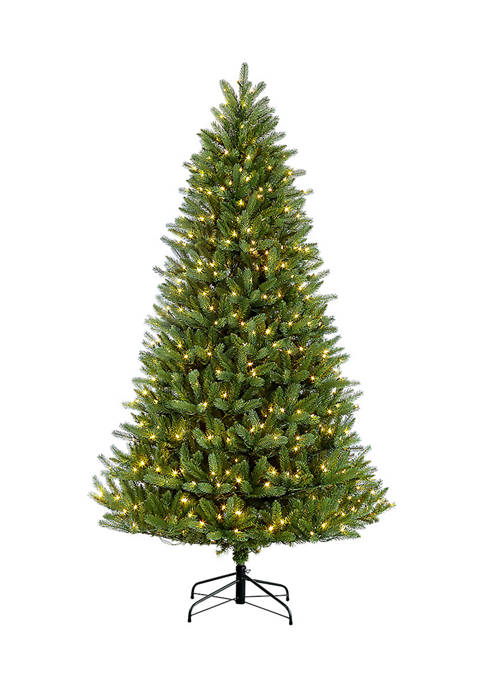 Puleo International 6.5 Foot Pre-Lit Green Mountain Fir