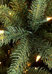 7.5 Foot Pre-Lit Green Mountain Fir Artificial Christmas Tree with 700 Clear UL-Listed Lights