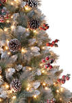 7.5 Foot Pre-Lit Sterling Pine Artificial Christmas Tree with 70 UL-Listed Clear Lights