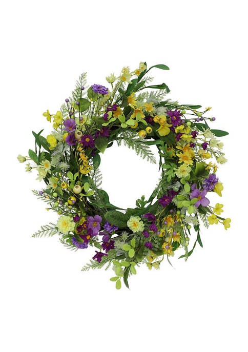 Puleo International 24 Inch Artificial Spring Mixed Floral