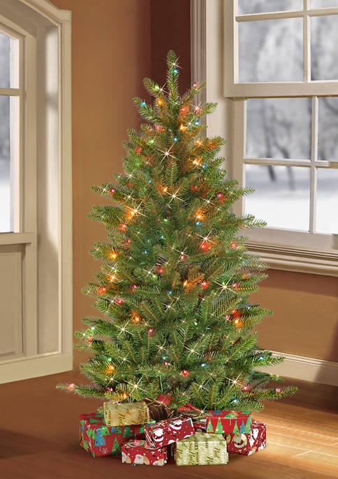 Pre-Lit Slim Franklin Fir Christmas Tree with