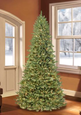 Puleo International Pre-Lit Downswept Valley Fir Christmas Tree