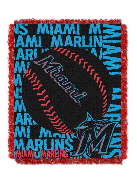 MLB Miami Marlins Double Play Jacquard Woven Throw