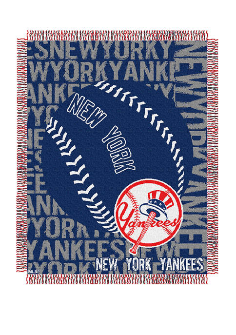 MLB New York Yankees Double Play Jacquard Woven Throw