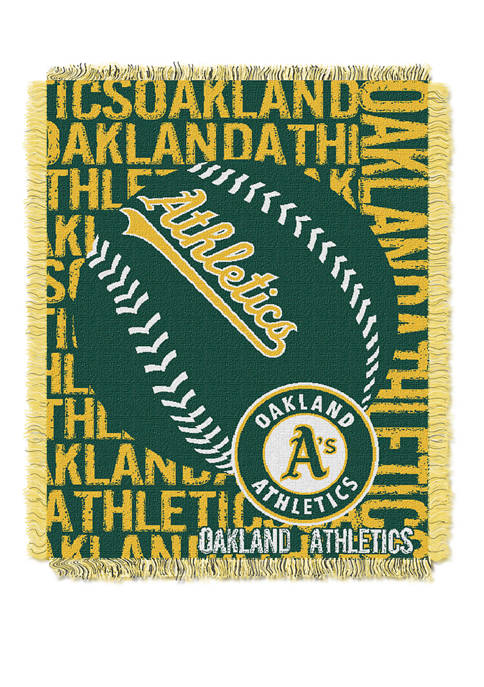 MLB Oakland Athletics Double Play Jacquard Woven Throw