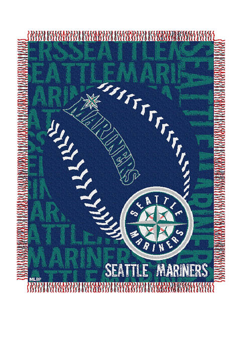 MLB Seattle Mariners Double Play Jacquard Woven Throw