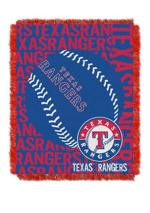 MLB Texas Rangers Double Play Jacquard Woven Throw