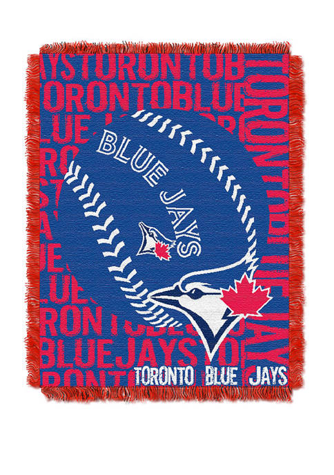 MLB Toronto Blue Jays Double Play Jacquard Woven Throw