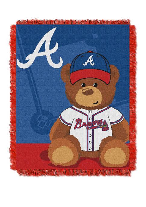 MLB Atlanta Braves Field Bear Baby Woven Jacquard Throw