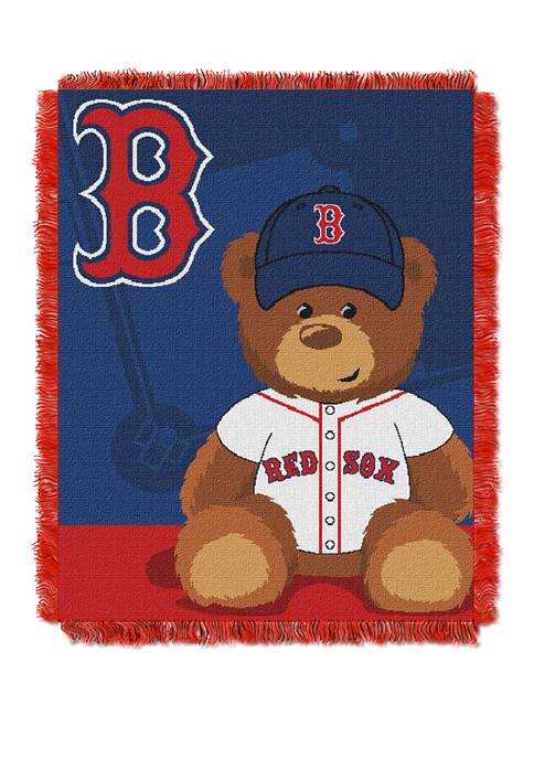 MLB Boston Red Sox Field Bear Baby Woven Jacquard Throw