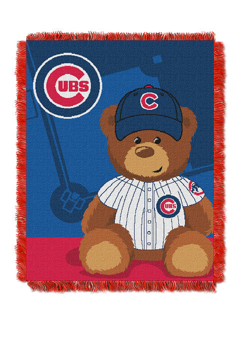 MLB Chicago Cubs Field Bear Baby Woven Jacquard Throw
